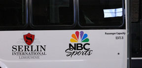 nbc sports vehicle lettering