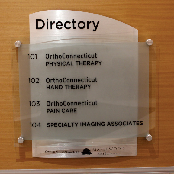 ortho ct directory menu board