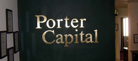 Porter Capital Office sign