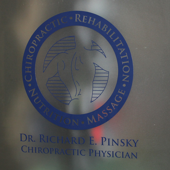 Chiropractic Physician Windows lettering and logo