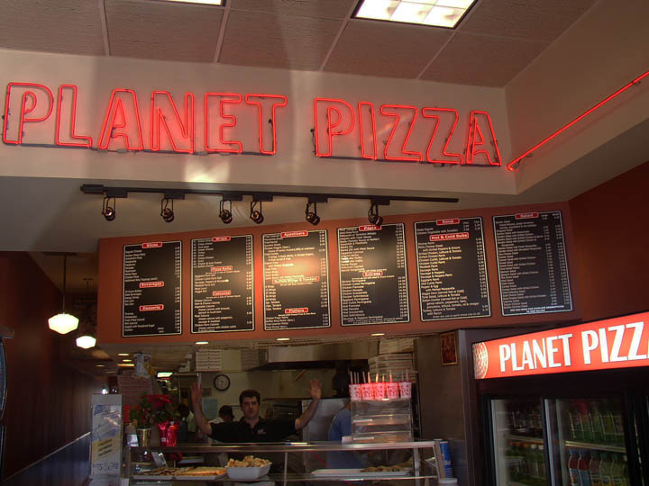 Palnet pizza illuminated sign