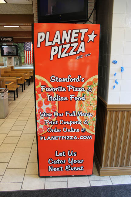 Planet pizza banner