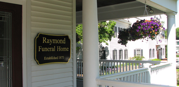 raymond funeral home oan sign