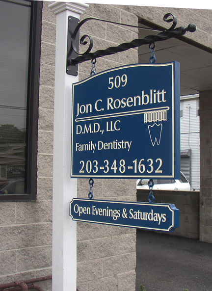 Jon C. Rosenblitt post and Panel signs
