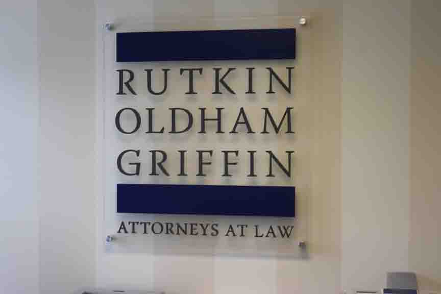 rutkin oldham griffin custom office design sign