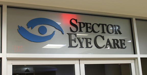 Spector Eye care Windows Lettering and logo
