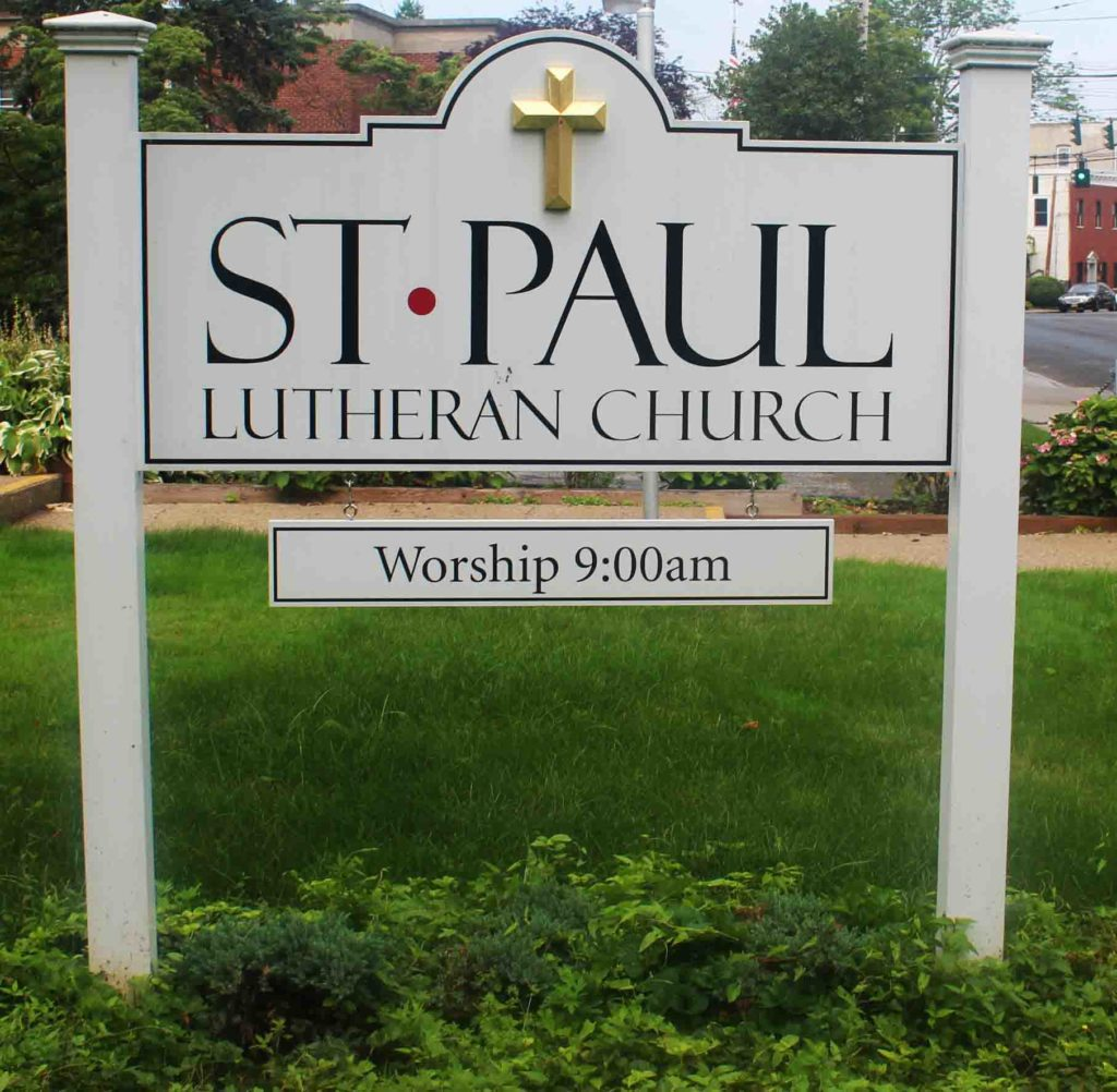 st paul post and panel sign