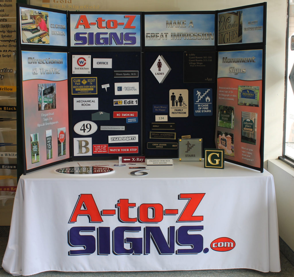 A-to-Z Signs Tabletop display