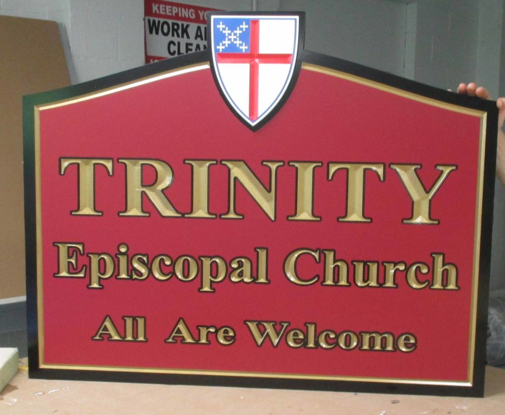 trinity church carved sign