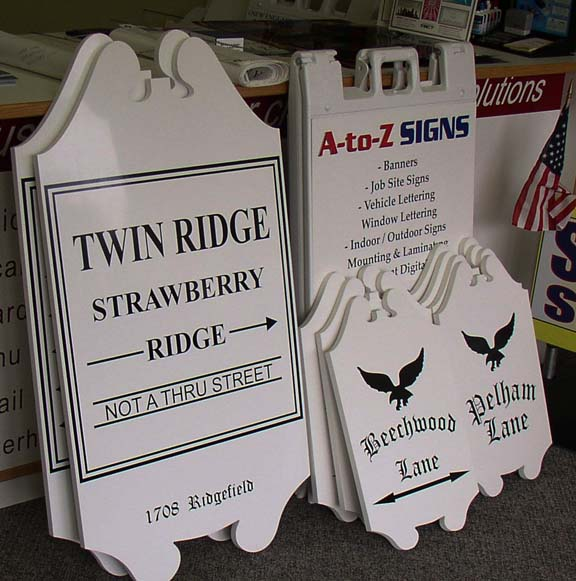 Twin Ridge and A-TO-Z sign