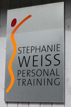Stephanie Weiss personal training pan sign