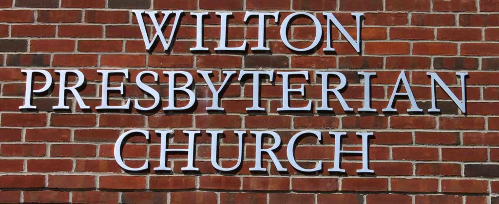 wilton presb church dimensional lettering